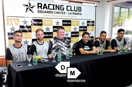 En conferencia de prensa, Racing tuvo su presentación