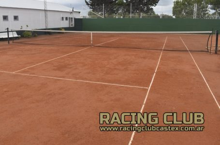 Totalmente renovadas las canchas de Tenis de Racing Club